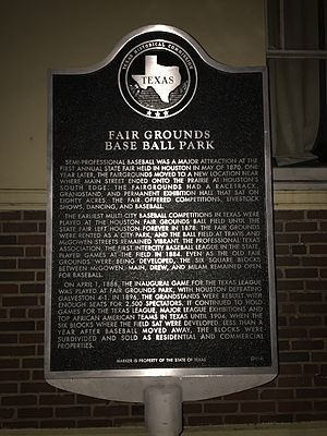 Herald Park - Texas State Historical Marker for the ballpark
