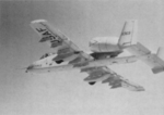 Fairchild A10A in flight, backward view from the left side.png