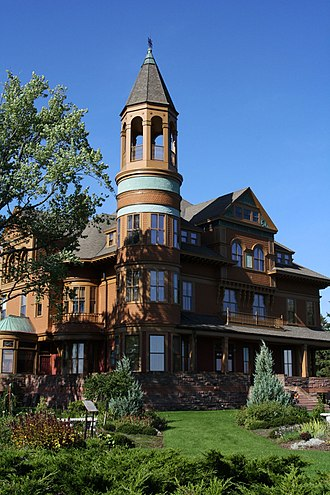 Superior, Wisconsin - Fairlawn Mansion, built by Superior's three-time mayor Martin Pattison for his family in 1891. The 42-room mansion is now a museum.