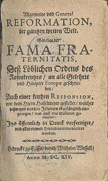 La Présence d'une crypte contenant des plaques dans un récit énigmatique du XVII e siècle 220px-Fama-fraternitatis