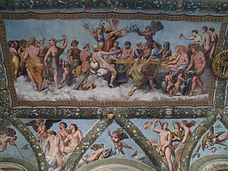 Feast of the Gods (art) - Image: Farnesina Loggia di Psiche. 05