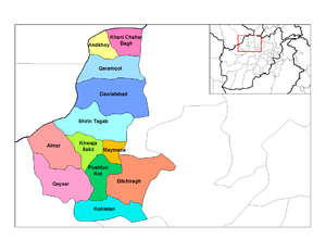 Districts of Faryab.