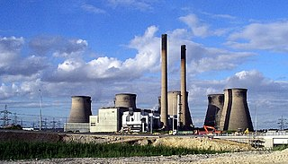 three coal-fired power stations in West Yorkshire, England