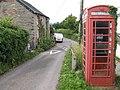 Fforddlas junction and phone box - geograph.org.uk - 471048.jpg