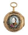 Fickur med boett av guld med miniatyrporträtt i emalj - Hallwylska museet - 110408.tif