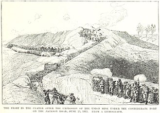 Siege of Vicksburg - Fighting at the crater at the Third Louisiana Redan