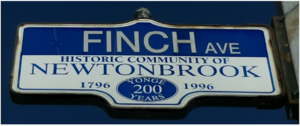 Finch Avenue - Image: Finch Street Sign