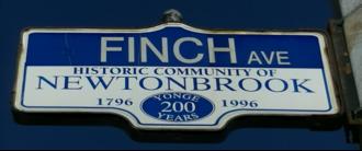 Finch Avenue - Image: Finch Street Sign