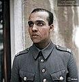 Finnish Corporal of African descent H. Sonntag, chauffeur for the military staff of the Finnish Ladoga Naval Detachment, Näätäoja, 6 February 1944. (49026411977).jpg