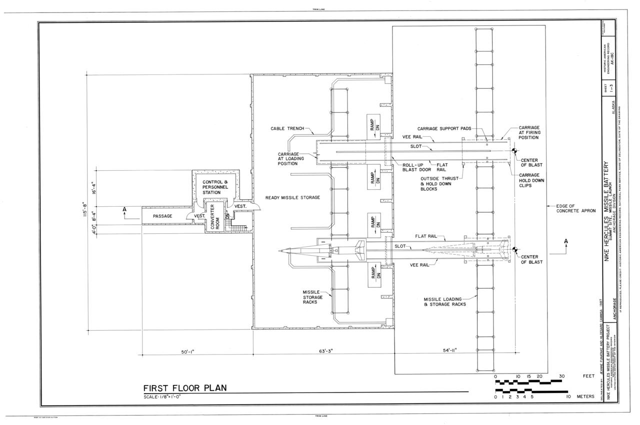 File first floor plan nike hercules missile battery for Alaska floor plans