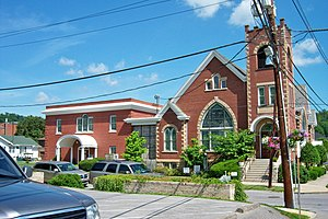 National Register of Historic Places listings in Johnson County, Kentucky - Image: First United Methodist Church (Paintsville)