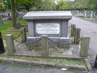 Henry FitzRoy (politician) - Fitzroy's family grave at City of Westminster Cemetery, Hanwell.