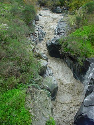 Alcantara (river) - The Alcantara during a 2003 flood