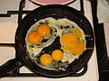 Five yolks from three eggs.JPG