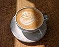 Flat white coffee at Sainsbury's, Chingford, London, England 1.jpg