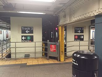 Flatbush Avenue–Brooklyn College (IRT Nostrand Avenue Line) - U-shaped connection between the two sides of the station