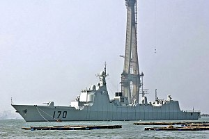 Jiangnan Shipyard - Lanzhou (170) of the Type 052C destroyer class