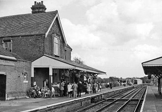 Sheffield Park railway station - The station in the early days of the Bluebell Railway (1961)