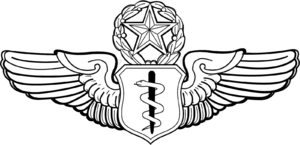James G. Roudebush - Image: Flight Surgeon Badge