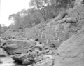 Flood damage to rock wall on Virgin River, a quarter mile south of Court of Patriarchs. Record of damage or defective (4db1145d62d54acf920d0af1f40ede91).tif