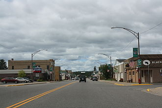 Florence (CDP), Wisconsin - Looking west at downtown Florence