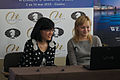 Fondation Neva Women's Grand Prix Geneva 11-05-2013 - Yifan Hou and Anna Ushenina during the press conference.jpg