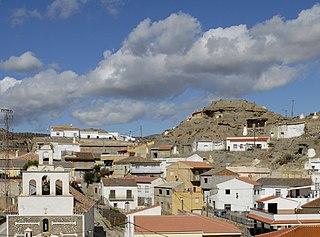 Fonelas city in Granada, Spain