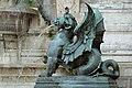 Fontaine Saint-Michel (Paris), chimère ailée, Henri-Alfred Jacquemart 02.jpg