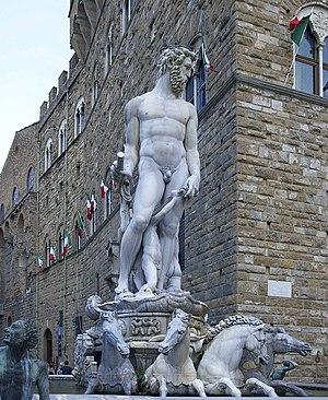 Deutsch: Der Neptunbrunnen von Giovanni Bologn...