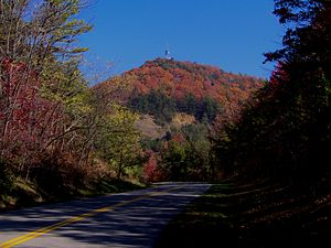 Chilhowee Mountain - Foothills Parkway approaching Look Rock, on the crest of Chilhowee Mountain