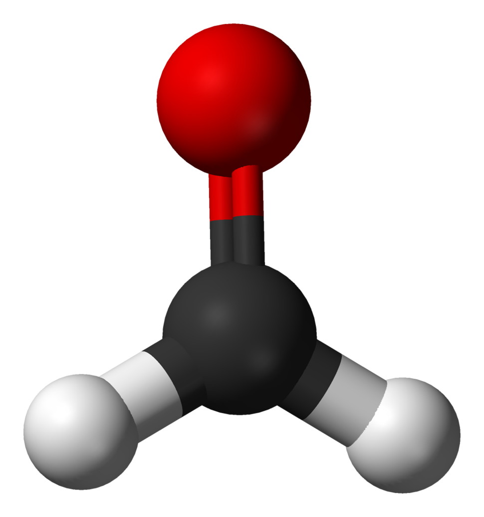 Ball and stick model of formaldehyde
