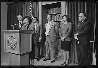 Asian Pacific American - Representative Patsy Mink declares the formation of the Congressional Asian Pacific American Caucus.