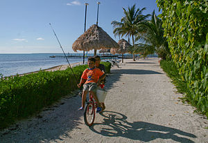 Hispanic Belizean - Image: Fort George's Caye kids