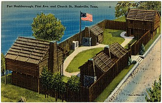 Fort Nashborough - A historical reconstruction of Fort Nashborough