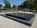 Fountain and post office, Szent Imre Square, 2016 Budapest.jpg