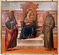 Francesco granacci, madonna col bambino tra i ss. bartolomeo e francesco, 1490-1500 ca. da s.m. a cintoia.jpg