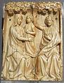 Francia o italia, placca con madonna col bambino e cristo risorto, inizio xiv sec.JPG