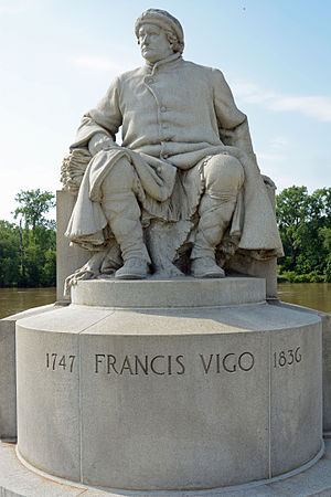 George Rogers Clark National Historical Park - Statue by John Angel dedicated to Francis Vigo at the park
