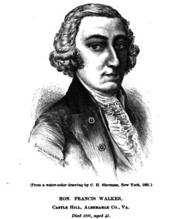 Francis Walker (Virginia) American politician