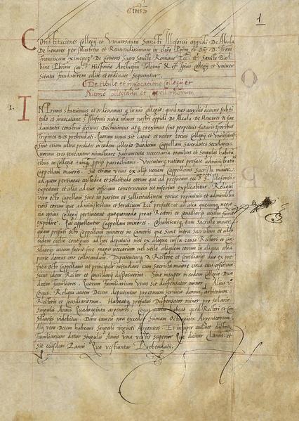 File:Francisco Jiménez de Cisneros (22-01-1510) Constituciones del Colegio Mayor de San Ildefonso.png