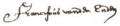 Franciscus van den Enden signature.png