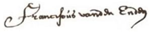 Franciscus van den Enden - Image: Franciscus van den Enden signature