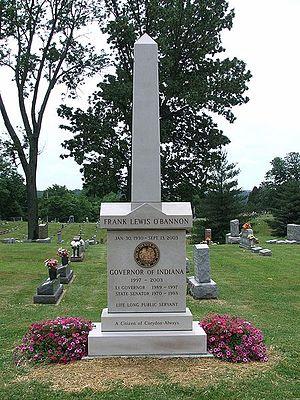 Frank O'Bannon - Frank O'Bannon's grave.