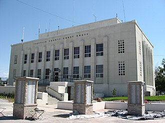 National Register of Historic Places listings in Franklin County, Idaho - Image: Franklin County Courthouse, Preston