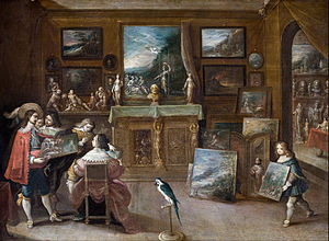 Art dealer - A visit to the Art Dealer by Frans Francken the Younger, early 1600s