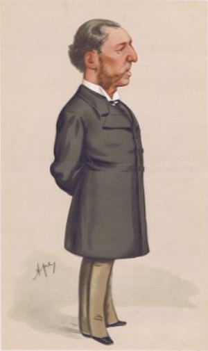 "St James's Gazette - ""He created The Pall Mall Gazette"" Caricature of Frederick Greenwood by 'Ape' (Carlo Pellegrini) in ''Vanity Fair'', June 1880"
