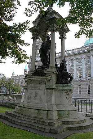 Lord Lieutenant of Down - Monument to Lord Dufferin, one-time Governor General of Canada and Viceroy of India, in the grounds of Belfast City Hall, Belfast, Northern Ireland