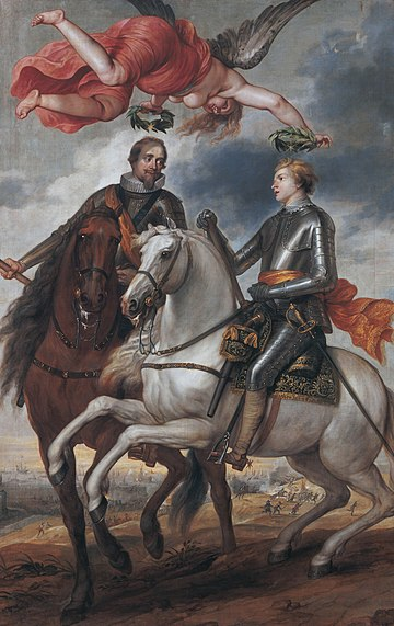 Frederik Hendrik and Maurits as generals, by Thomas Willeboirts Bosschaert