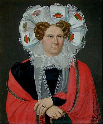 Friederike Brun - Friederike Brun portrayed by C. W Eckersberg (1818)