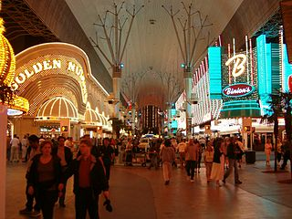 administrative designation of a gambling area including downtown Las Vegas